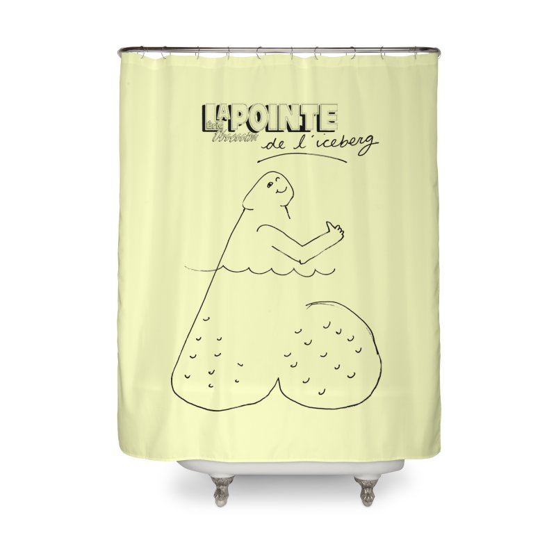 Lapointe de l'iceberg Home Shower Curtain by Chaudaille