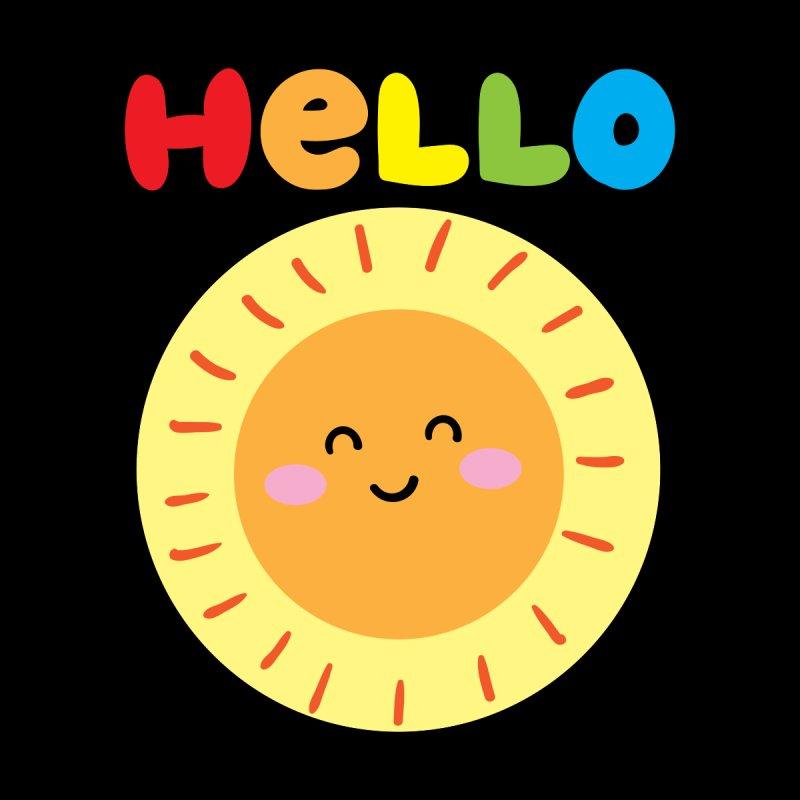 Rainbow Hello Sun Accessories Beach Towel by cheekimori's Artist Shop