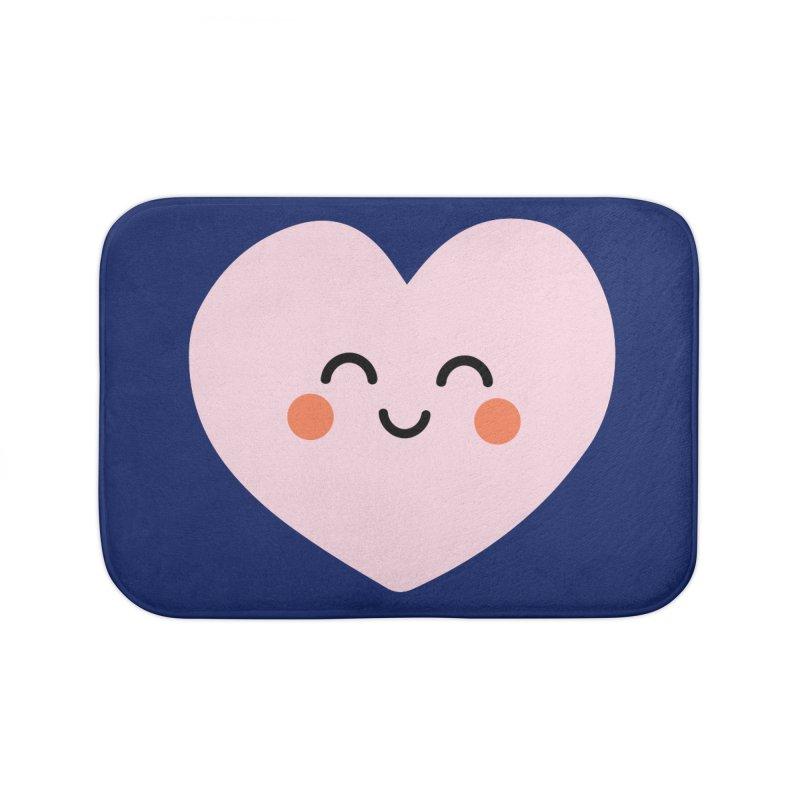 Kawaii Heart Home Bath Mat by cheekimori's Artist Shop
