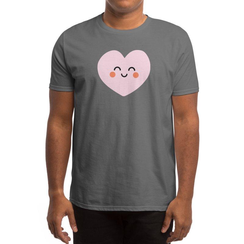 Kawaii Heart Men's T-Shirt by cheekimori's Artist Shop