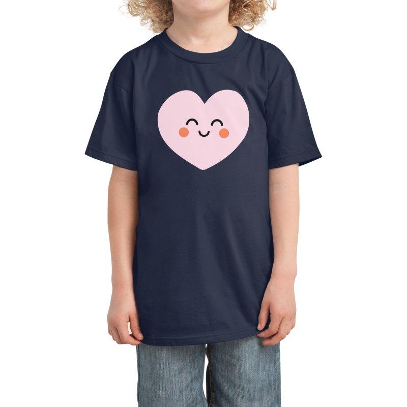 Kawaii Heart Kids T-Shirt by cheekimori's Artist Shop