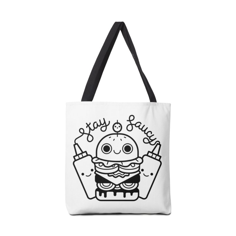 Stay Saucy in Tote Bag by Cheerfull Designs