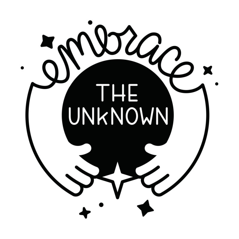 Embrace the Unknown Accessories Sticker by Cheerfull Designs