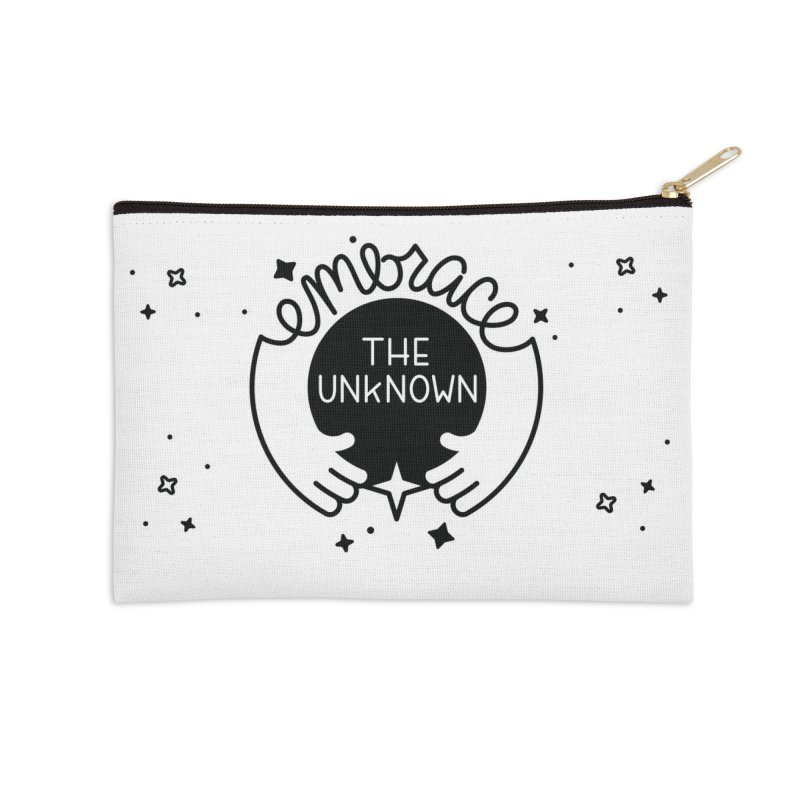 Embrace the Unknown Accessories Zip Pouch by Cheerfull Designs