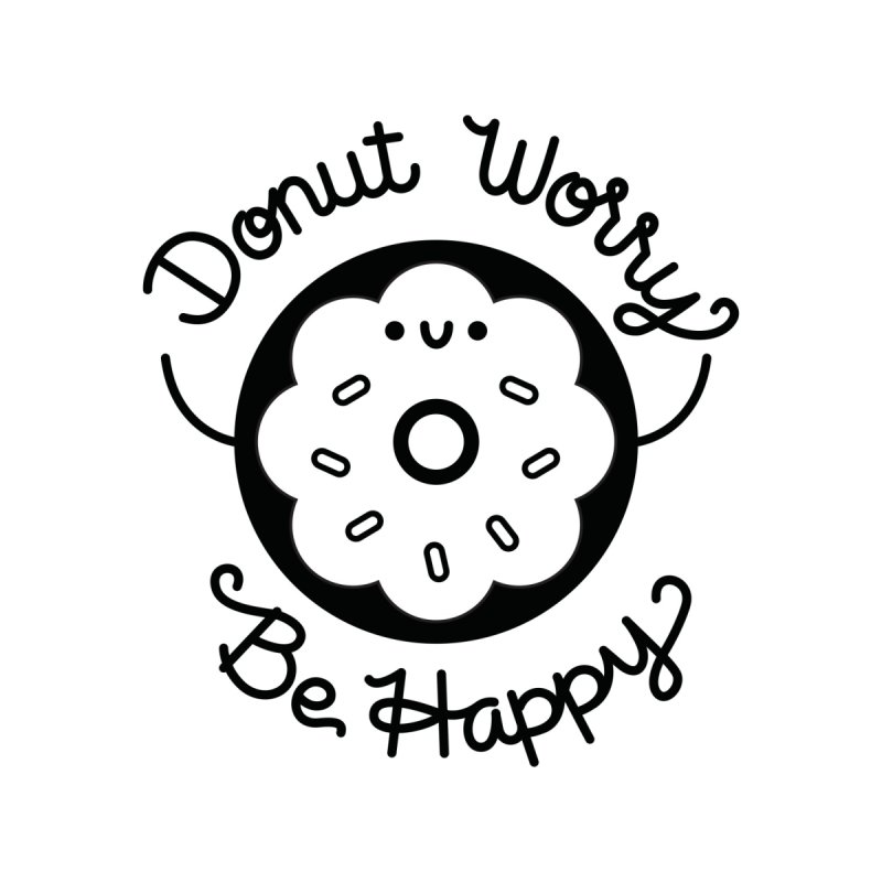Donut Worry Accessories Zip Pouch by Cheerfull Designs