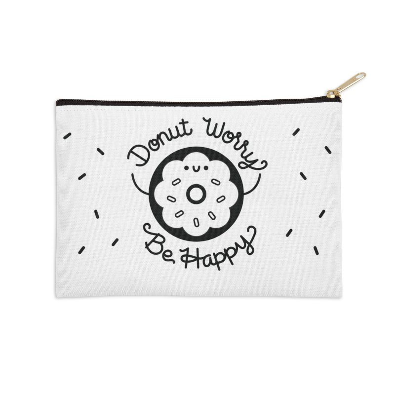 Donut Worry in Zip Pouch by Cheerfull Designs