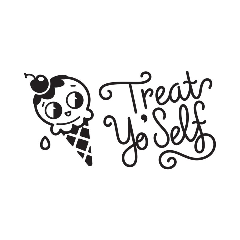 Treat Yo Self Men's T-Shirt by Cheerfull Designs