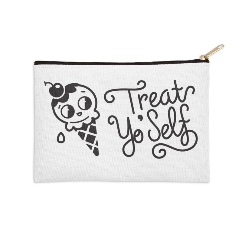 Treat Yo Self in Zip Pouch by Cheerfull Designs
