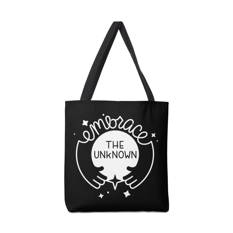 Embrace the Unknown (Reverse) Accessories Bag by Cheerfull Designs