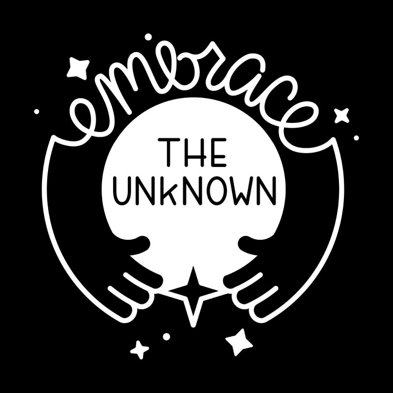 Embrace the Unknown (Reverse) Men's T-Shirt by Cheerfull Designs