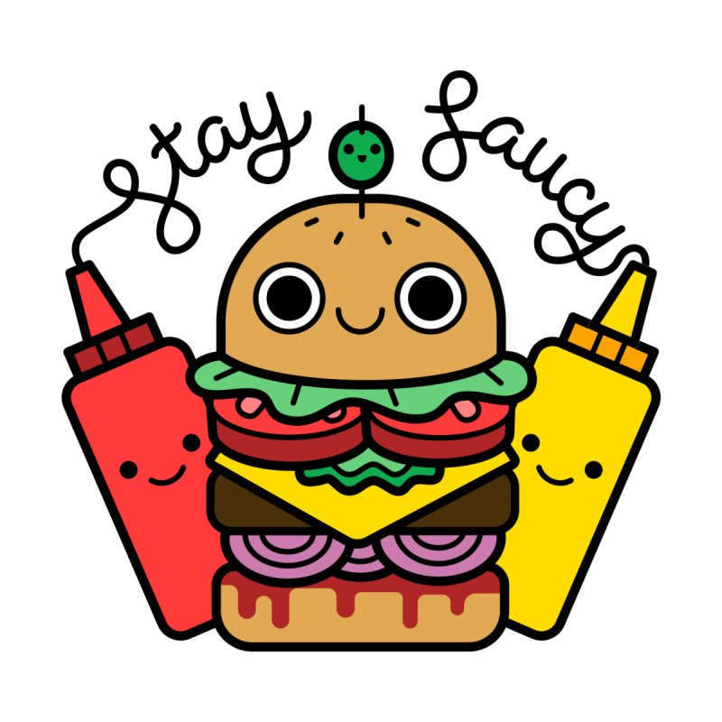 Stay Saucy (color) Accessories Sticker by Cheerfull Designs