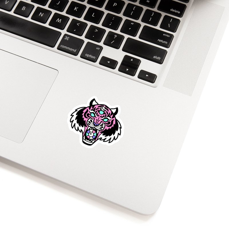Rajah in White Sticker by Cheerfull Designs