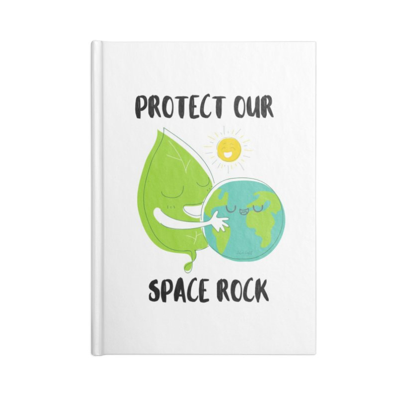 Protect Our Space Rock Accessories Blank Journal Notebook by The Emotional Archeologist