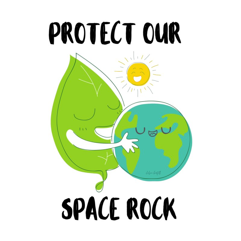 Protect Our Space Rock Accessories Notebook by The Emotional Archeologist