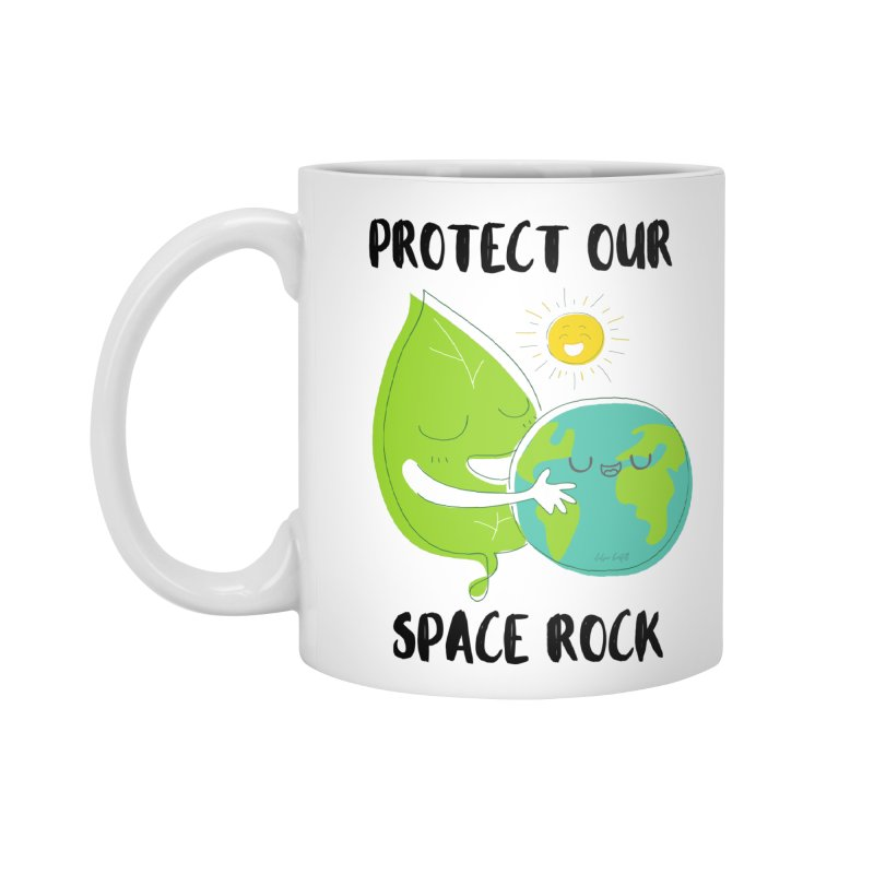 Protect Our Space Rock Accessories Standard Mug by The Emotional Archeologist