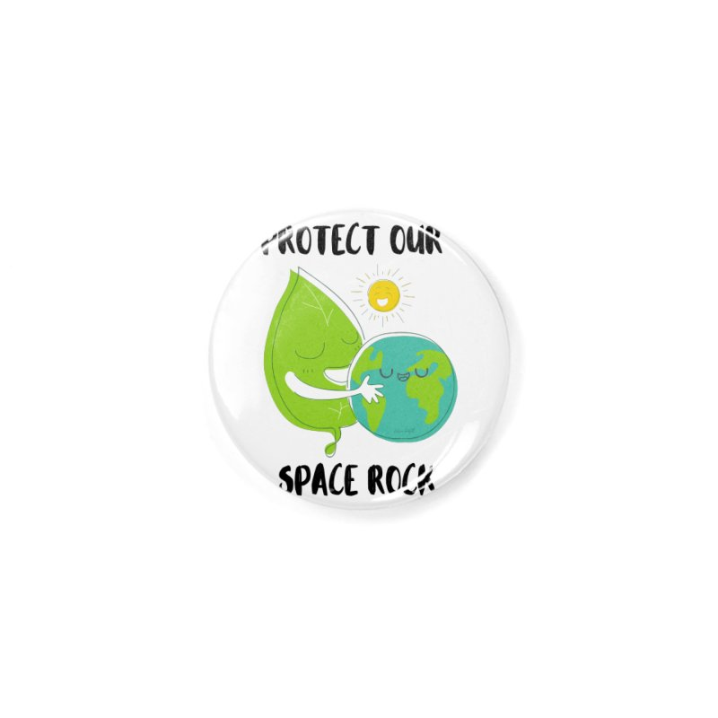 Protect Our Space Rock Accessories Button by The Emotional Archeologist