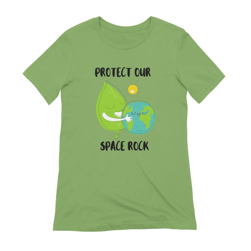 Protect Our Space Rock Women's Extra Soft T-Shirt by The Emotional Archeologist