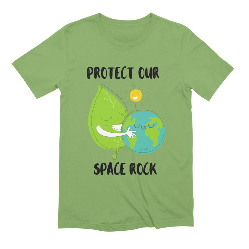 Protect Our Space Rock Men's Extra Soft T-Shirt by The Emotional Archeologist