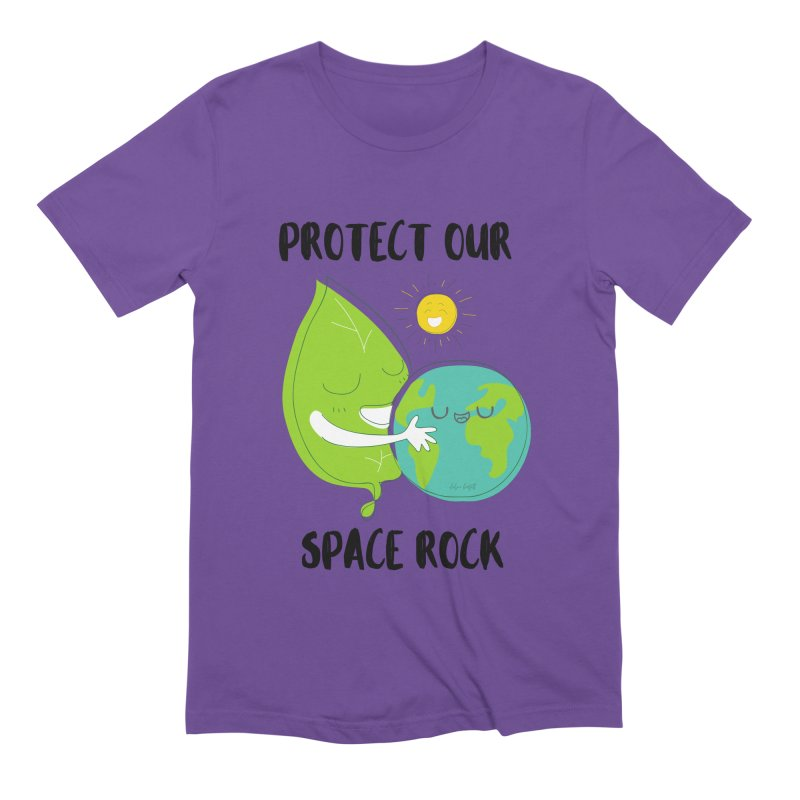 Protect Our Space Rock Men's T-Shirt by The Emotional Archeologist