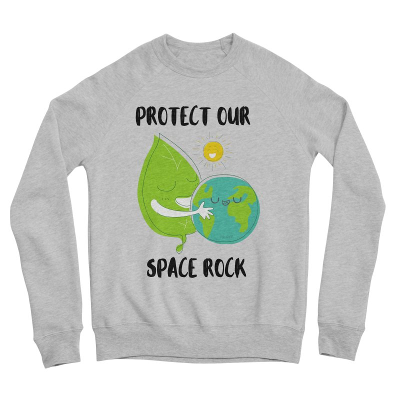 Protect Our Space Rock Men's Sweatshirt by The Emotional Archeologist