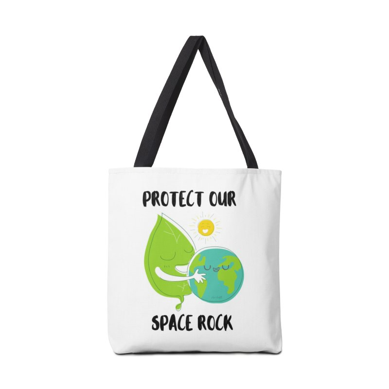 Protect Our Space Rock Accessories Tote Bag Bag by The Emotional Archeologist
