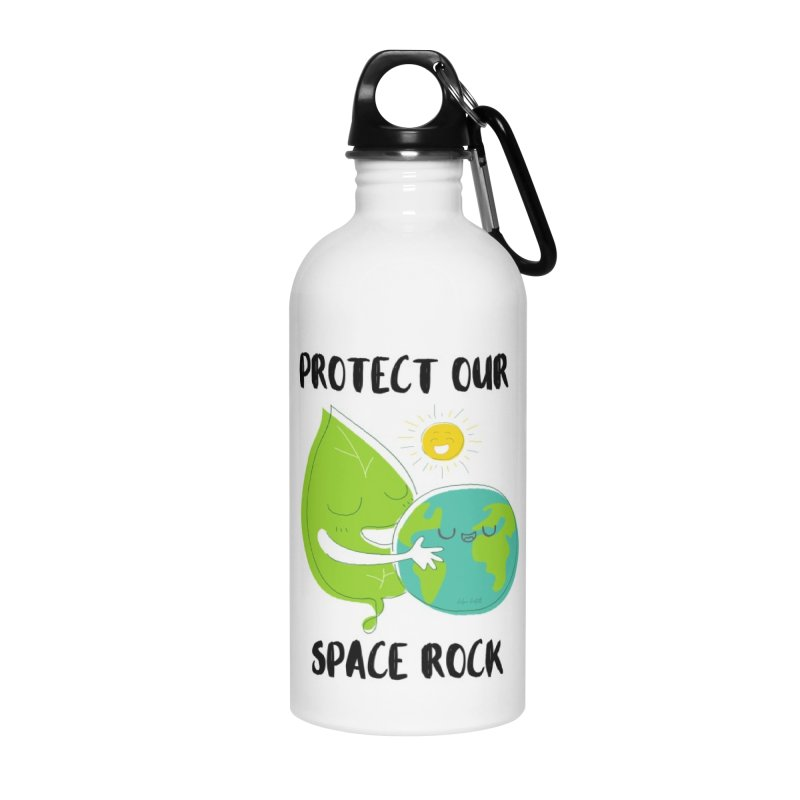 Protect Our Space Rock Accessories Water Bottle by The Emotional Archeologist