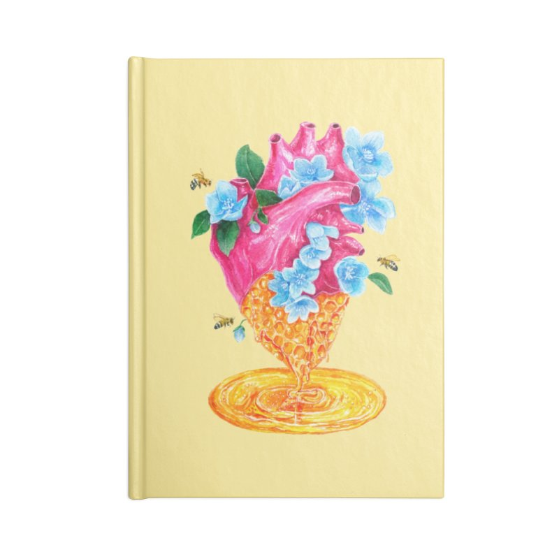 Honeycomb Heart Accessories Blank Journal Notebook by The Emotional Archeologist