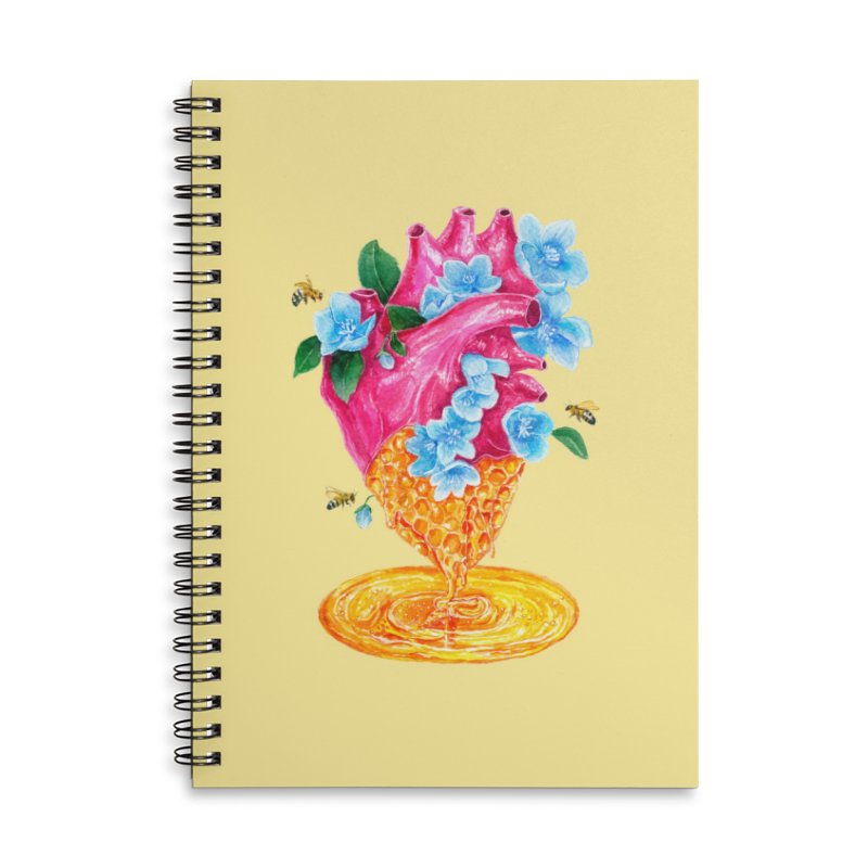 Honeycomb Heart Accessories Notebook by The Emotional Archeologist