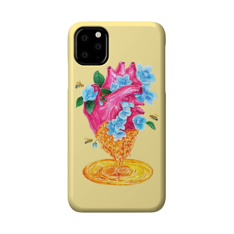 Honeycomb Heart Accessories Phone Case by The Emotional Archeologist