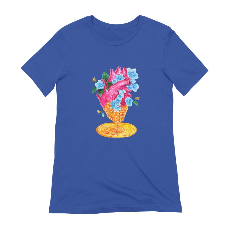 Honeycomb Heart Women's Extra Soft T-Shirt by The Emotional Archeologist
