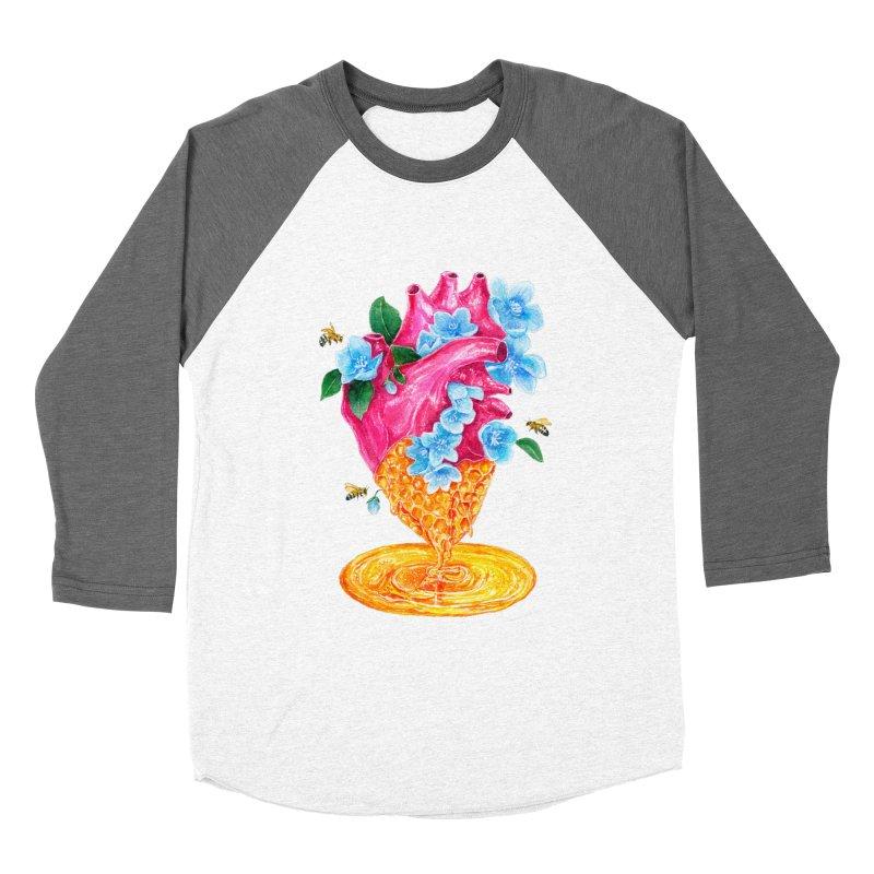Honeycomb Heart Women's Baseball Triblend Longsleeve T-Shirt by The Emotional Archeologist