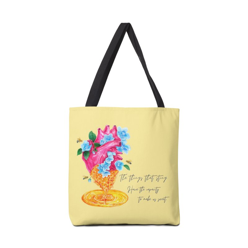 Honeycomb Heart Accessories Tote Bag Bag by The Emotional Archeologist