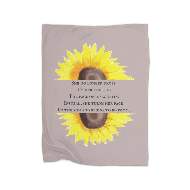Blossom in the Face of Insecurity Home Fleece Blanket Blanket by The Emotional Archeologist