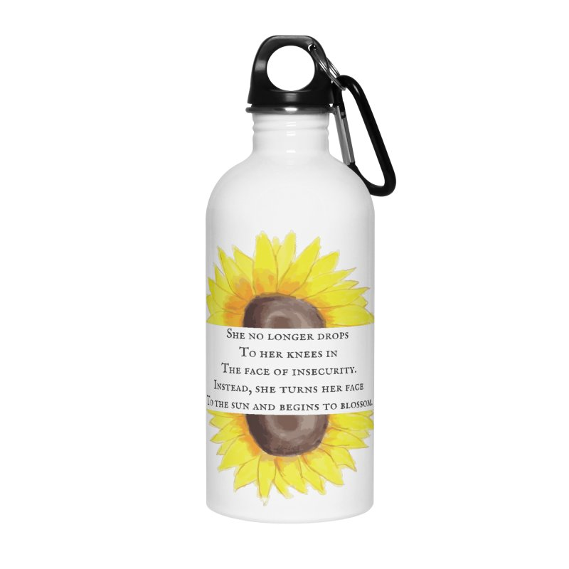 Blossom in the Face of Insecurity Accessories Water Bottle by The Emotional Archeologist