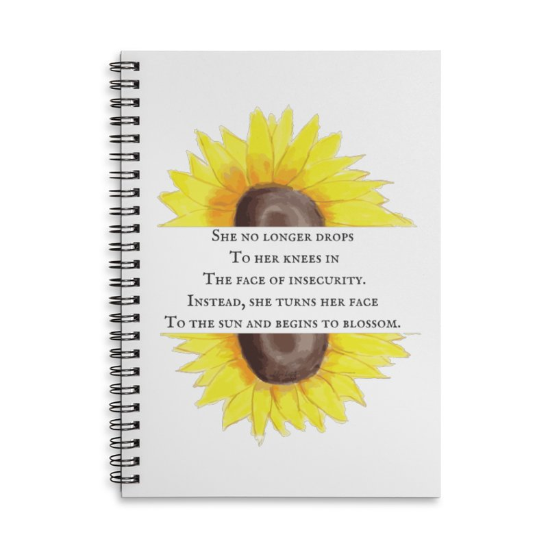 Blossom in the Face of Insecurity Accessories Lined Spiral Notebook by The Emotional Archeologist