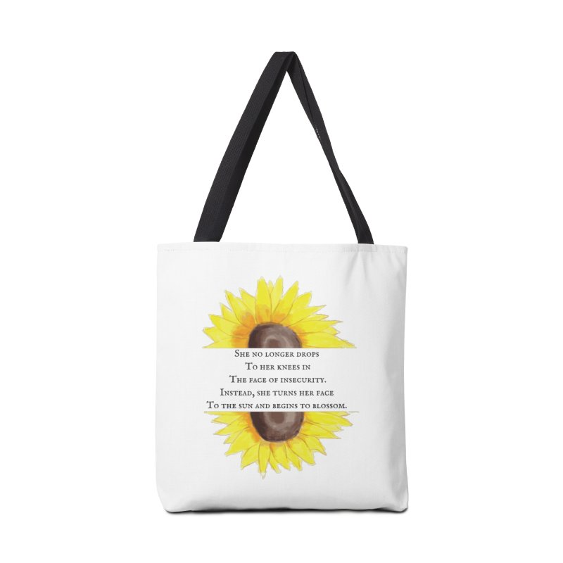Blossom in the Face of Insecurity Accessories Tote Bag Bag by The Emotional Archeologist