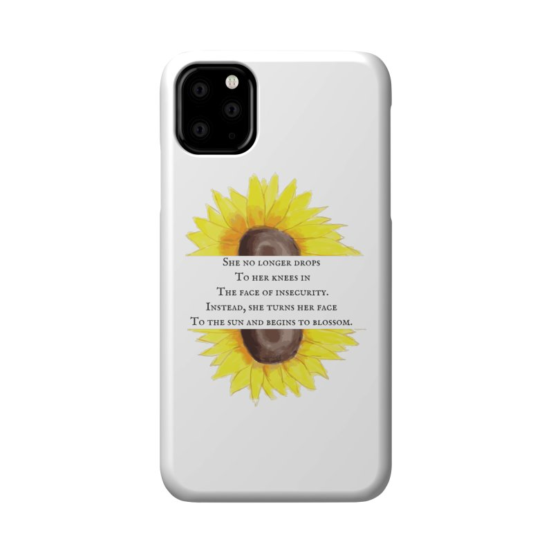 Blossom in the Face of Insecurity Accessories Phone Case by The Emotional Archeologist