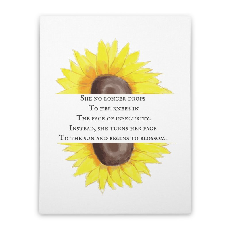 Blossom in the Face of Insecurity Home Stretched Canvas by The Emotional Archeologist