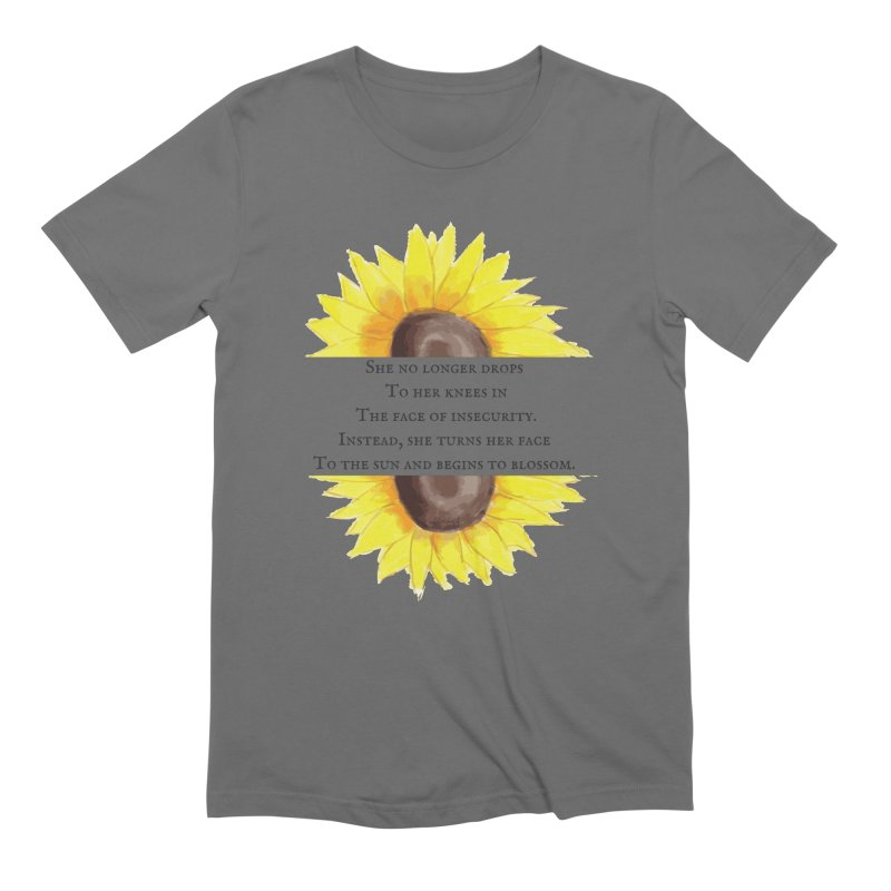 Blossom in the Face of Insecurity Men's T-Shirt by The Emotional Archeologist