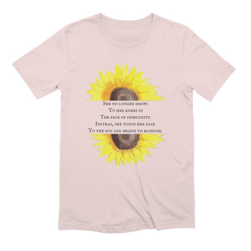 Blossom in the Face of Insecurity Men's Extra Soft T-Shirt by The Emotional Archeologist