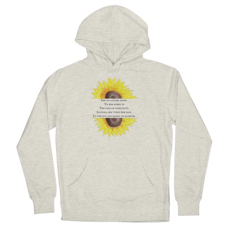 Blossom in the Face of Insecurity in Men's French Terry Pullover Hoody Heather Oatmeal by The Emotional Archeologist