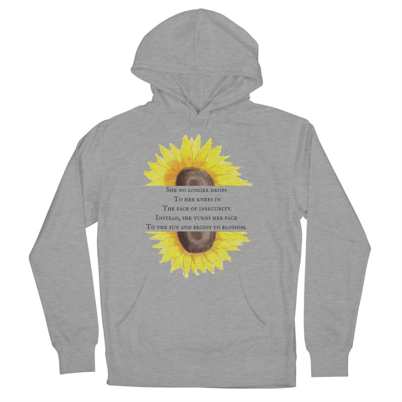 Blossom in the Face of Insecurity Men's French Terry Pullover Hoody by The Emotional Archeologist