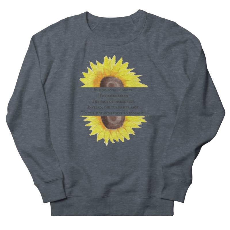 Blossom in the Face of Insecurity Men's French Terry Sweatshirt by The Emotional Archeologist
