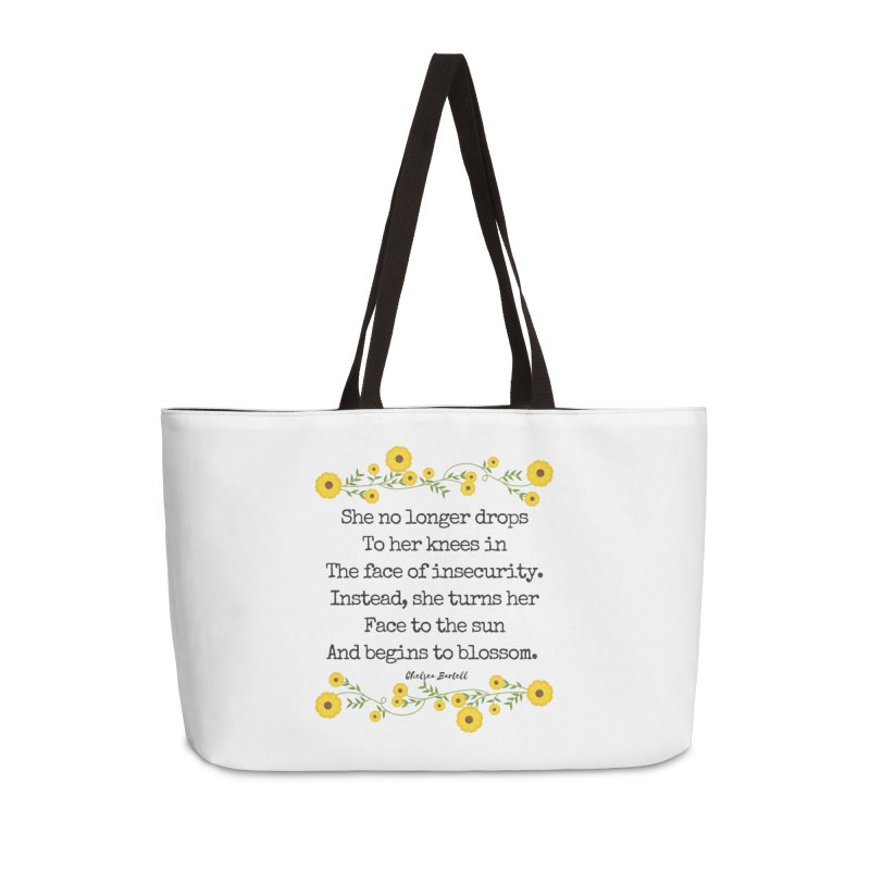 Blosom in Insecurity Accessories Weekender Bag Bag by The Emotional Archeologist