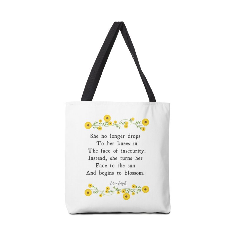 Blosom in Insecurity Accessories Tote Bag Bag by The Emotional Archeologist