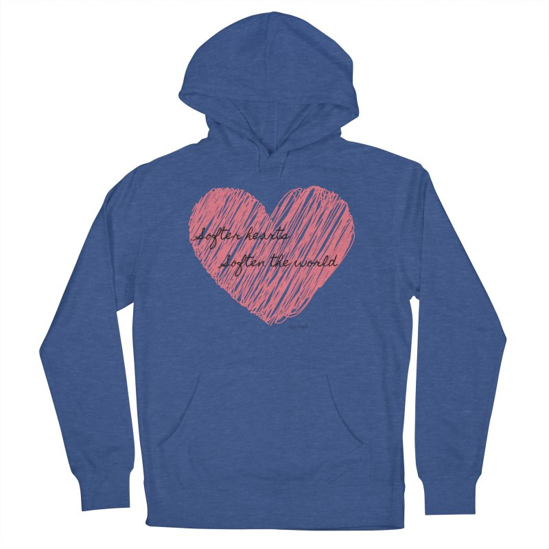 Softer Hearts Men's French Terry Pullover Hoody by The Emotional Archeologist