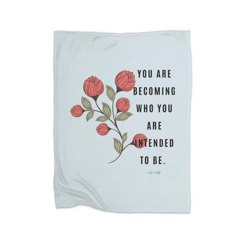 Becoming Home Fleece Blanket Blanket by The Emotional Archeologist