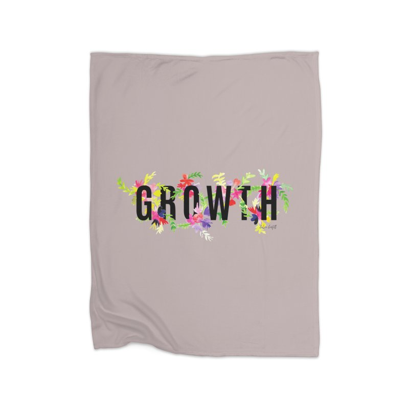 Growth Home Fleece Blanket Blanket by The Emotional Archeologist