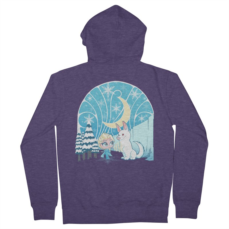 Would you like to make a snowdog? Men's Zip-Up Hoody by cherished
