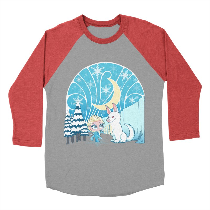 Would you like to make a snowdog? Women's Baseball Triblend T-Shirt by cherished